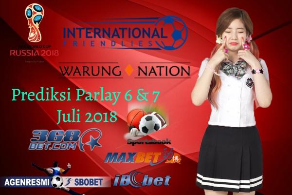 Prediksi Parlay Nanti Malam 6 & 7 JULI 2018